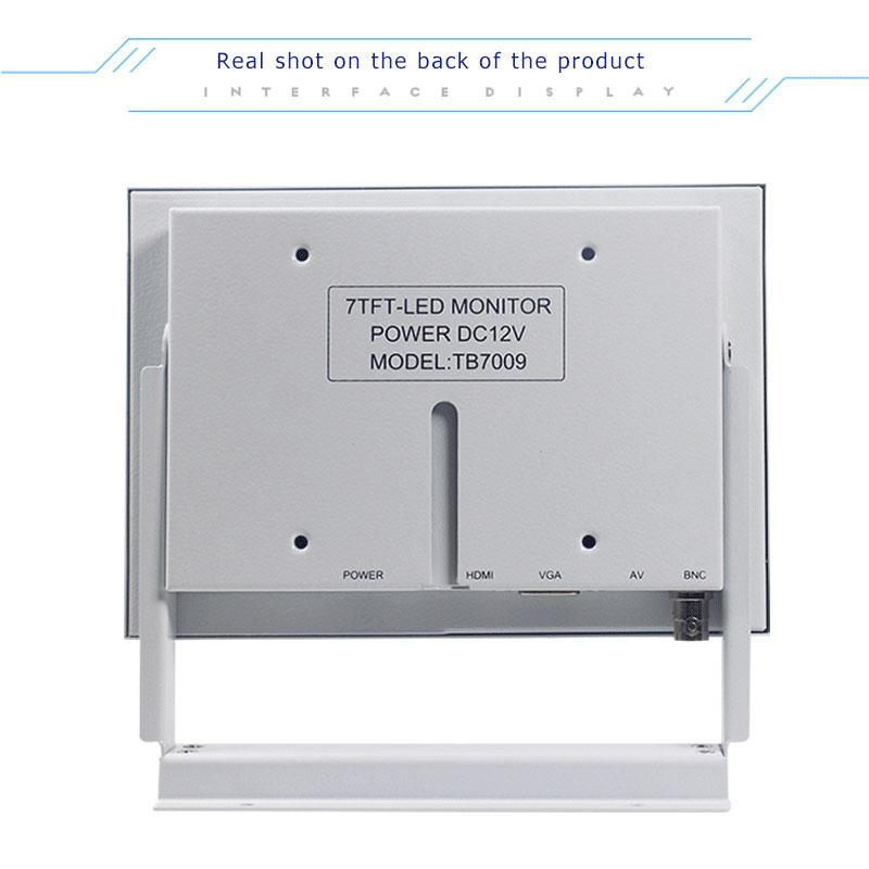 7 inch weiß BNC LCD monitor medizinische ausrüstung industriellen ausrüstung computer monitor HDMI mini bildschirm