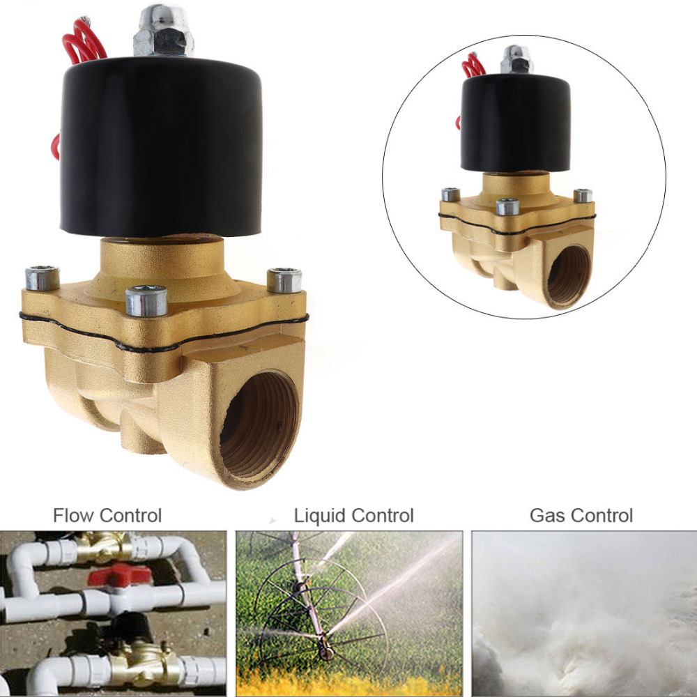 3/4'' Needle Valve 110/220V 12/24V Electric Solenoid Valve Normally Closed Type Aluminum Alloy Water Solenoid Valve