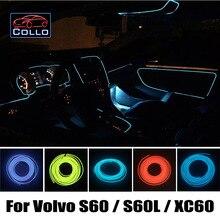 Для Volvo S60/S60L/XC60/Интерьер Автомобиля Романтическую Атмосферу лампа/Украшение Холодный Свет Линия/Стайлинга Автомобилей 9 М EL провода