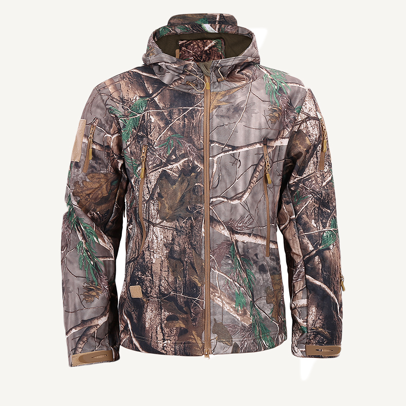 Autumn Winter Men Clothes Army Military Camouflage Fleece Jacket Camo Soft Shell Jackets Camping Hunting Windbreaker tactical gear soft shell camouflage outdoor jacket men army waterproof hunting clothes sport windbreaker military jacket coat