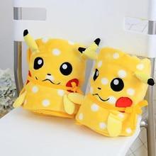 Cute Pikachu Flannel Blanket Nap Sleeping Blanket Baby Blanket