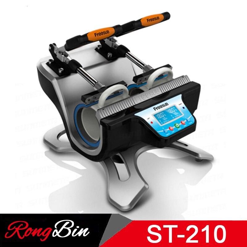 ST-210 Doppel Station Becher Presse Maschine Sublimation Hitze Presse Maschine Drucker Für Doppel 11 Unzen Becher Tasse Druck An Einem Zeit