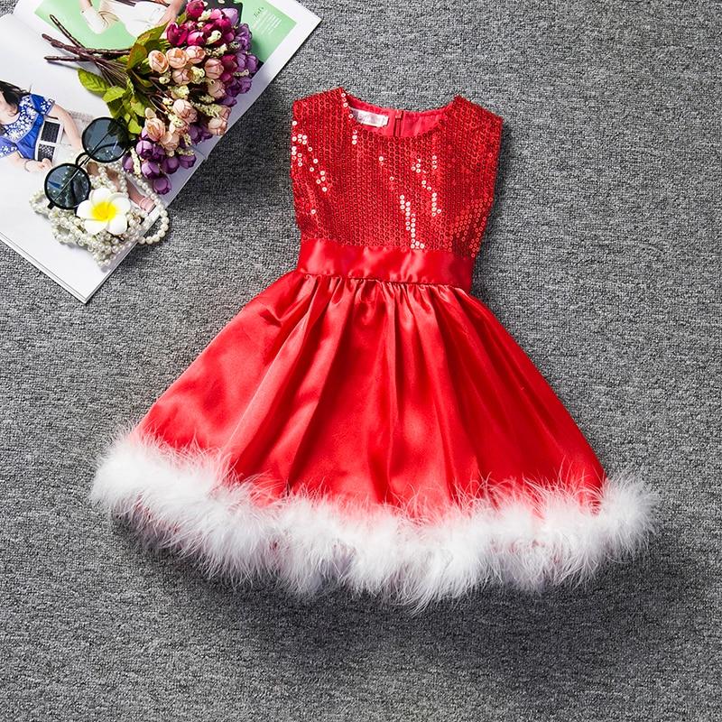 67494fa527f744 Sequins Christmas Dress 2018 Fashion Girl Kids Party Wear Dresses ...