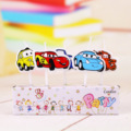 Factory wholesale cartoon birthday candle Mankiw cars 5 car combination cake candle