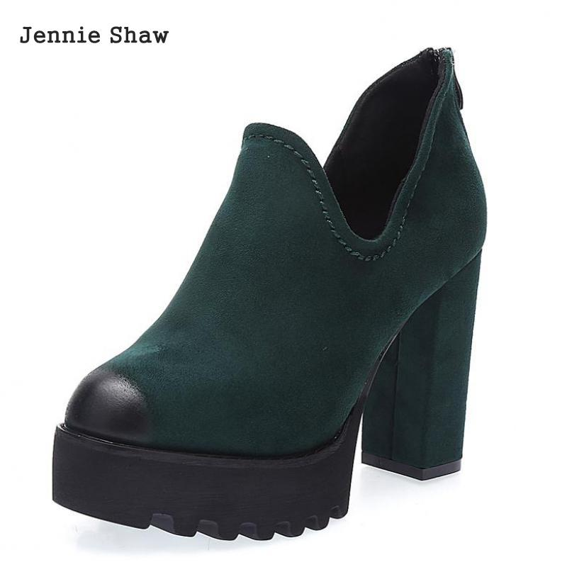 Women High Heel Boots Shoes Thick High-heeled Boots Sexy Platform Ankle Boot Sys-1300 qiu dong in fashionable boots sexy and comfortable women s shoes the new national style high heel heel thick heel