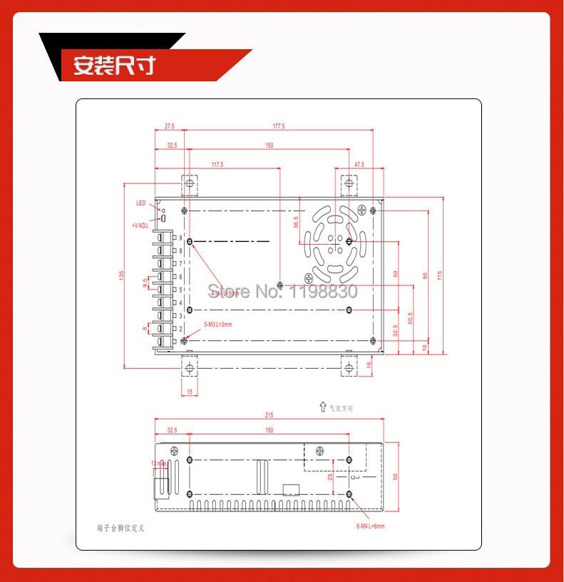 HTB1V.ogIpXXXXXhXFXXq6xXFXXXa - 400 W 48 V 8.3A Output tunggal Switching power supply untuk memimpin, Strip cahaya AC ke DC dipimpin Driver