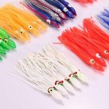 10pcs Mix Color Artificial Bait 18cm fishing lures soft bait Squid Skirt Octopus Saltwater Fishing Lure