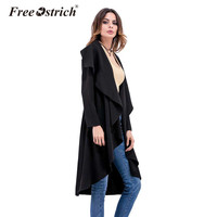 Free Ostrich 2017 Autumn Winter Sweater Women S Sweater Long Cardigan Long Sleeve Solid Loose Cardigan