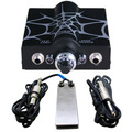 Professioanl Tattoo Power Supply Set Kit Spider Web Double Wave Tattoo Power Supply Foot Pedal Switch Silicone Clip Cord Supply