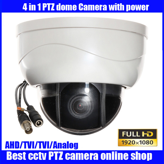 New mini AHD CVI TVI analog ptz cameras with full HD  motorized zoom lens ptz dome camera,3x Optical Zoom 2MP AHD PTZ Camera 4 in 1 ir high speed dome camera ahd tvi cvi cvbs 1080p output ir night vision 150m ptz dome camera with wiper