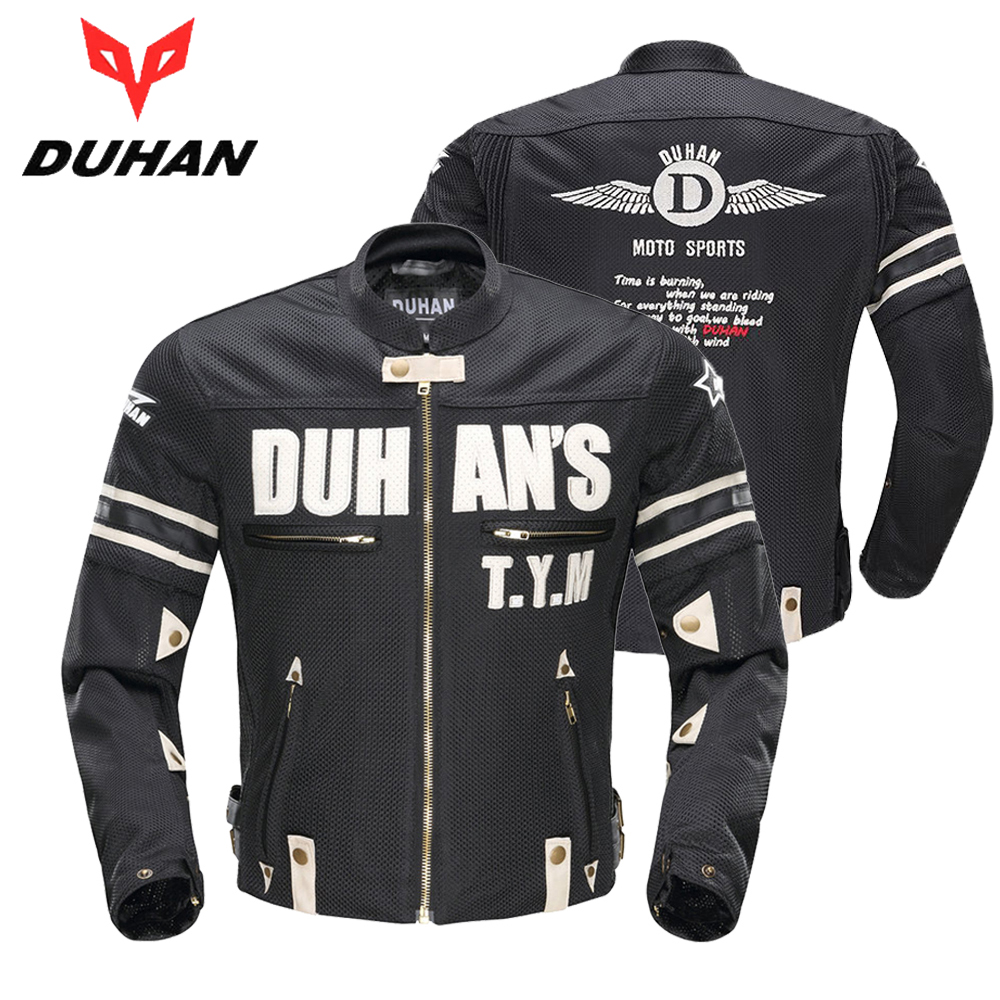 DUHAN Motorcycle Jacket Men Summer Motocross Off-Road Breathable Jacket Racing Moto Jacket Riding Jacket with 5 Protectors Gear duhan motorcycle jacket men equipment summer breathable motorbike jacket motocross off road jaqueta cloth racing moto