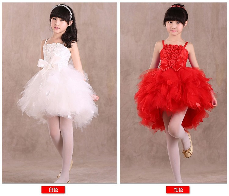 Fashion children party red white feather style kids prom dresses for girls 2016 тостер ariete 186 party time red