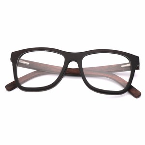 Image 4 - 100% Natural Wood eyeglasses Frame for Men Wooden Women Optical Glasses with Clear Lens with case 56342