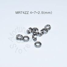 MR74ZZ bearing 4*7*2.5(mm)  ABEC-5 Metal Sealed Miniature Mini Bearing MR74 MR74ZZ chrome steel deep groove bearing цена 2017