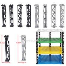 10 Pcs/lot Rectangle 4 holes Building Blocks Piece Pillar Moc Place Cabinet City High Building Figures Car Set Toys   Legoinglys