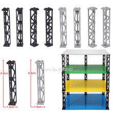 Rectangle 4 holes Building Blocks Piece Pillar lot Moc Place Cabinet City High Building Figures Car Set cabinet Toys YouZhengle(China)