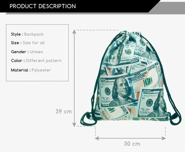 Dollar Money 3D Bag