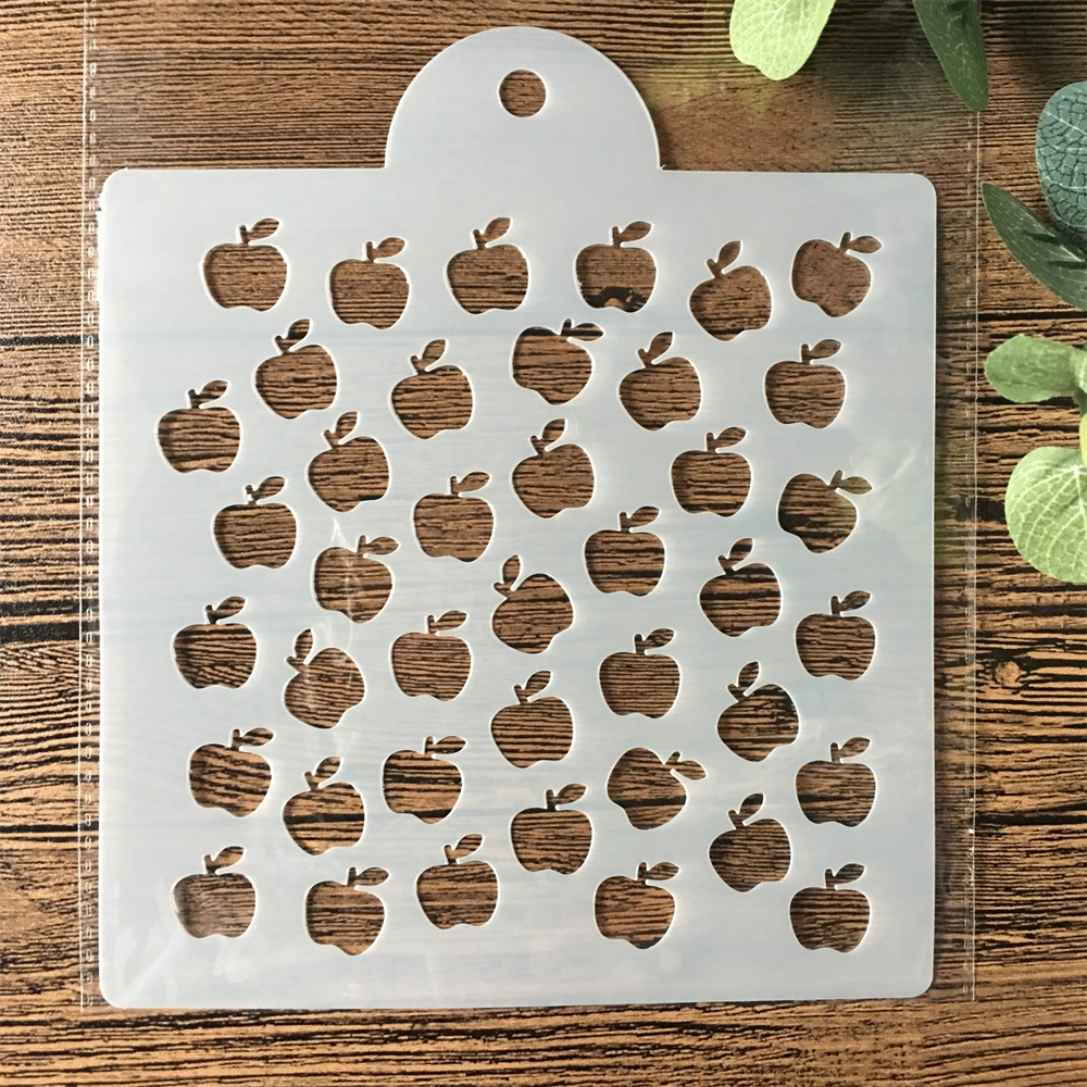 15cm Apple DIY Layering Stencils Painting Scrapbook Coloring Embossing Album Decorative Card Template