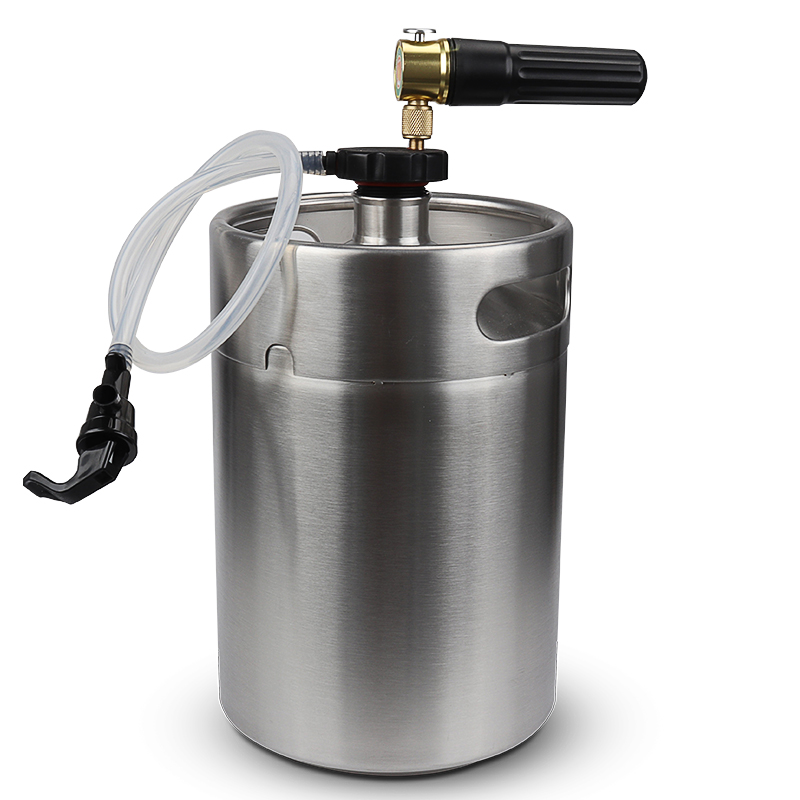 Stainless Steel 5L Mini Beer Keg Growler with Pocket CO2 Keg  Charger  and mini keg coupler Home Brewingkeg growlerkeg couplerhome  brew