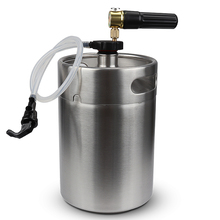 Stainless Steel 5L Mini Beer Keg Growler with Pocket CO2 Keg Charger  and mini keg coupler Home Brewing