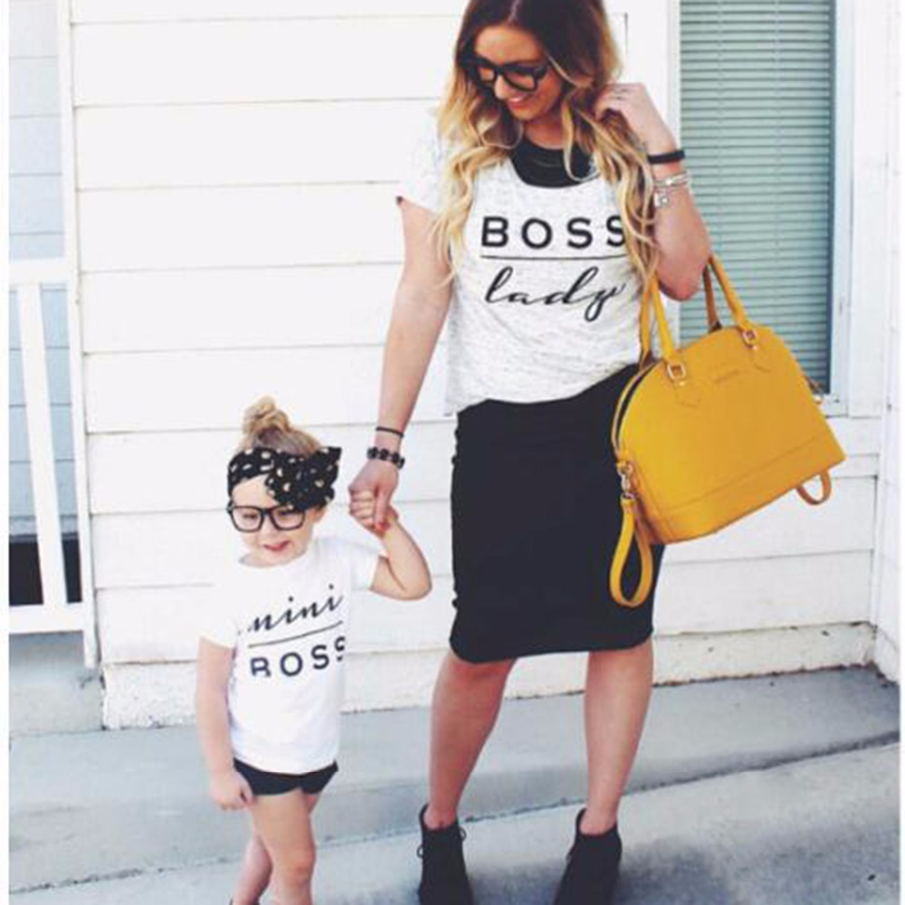 343b72ecb hot summer fashion woman Letter Print BOSS LADY t shirt White Short Sleeve  Tops tshirt Womens Casual * t shirt vrouwen-in T-Shirts from Women's  Clothing on ...