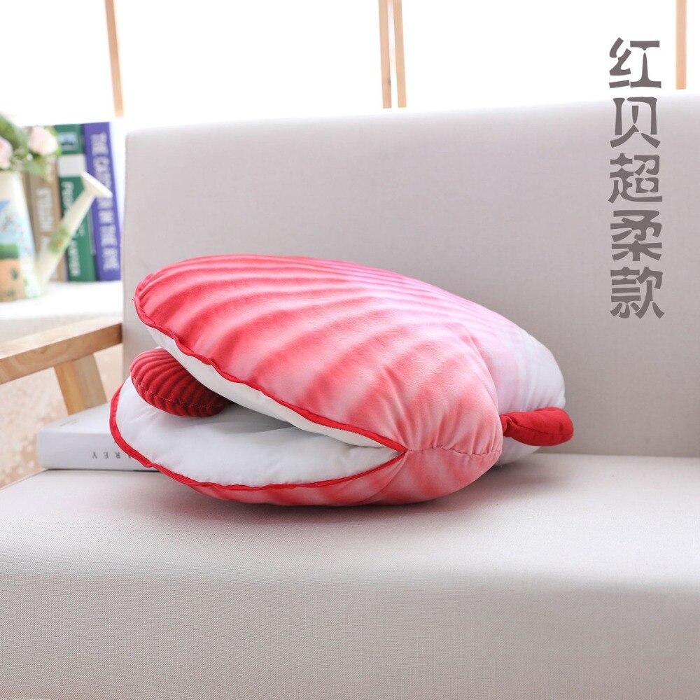 2018 colorido shell pillow plush stuffed 04