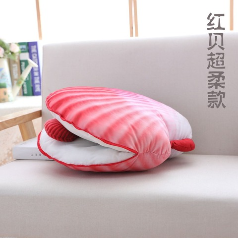 2018 colorido shell pillow plush stuffed