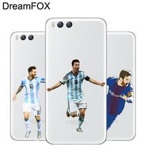 DREAMFOX M259 Messi Soft TPU Silicone Case Cover For Xiaomi Mi Note 2 3 4 5 6 8 SE M5 4C 4S 5C 5S 5X 6X A1 Plus lacywear сарафан s 381 ari