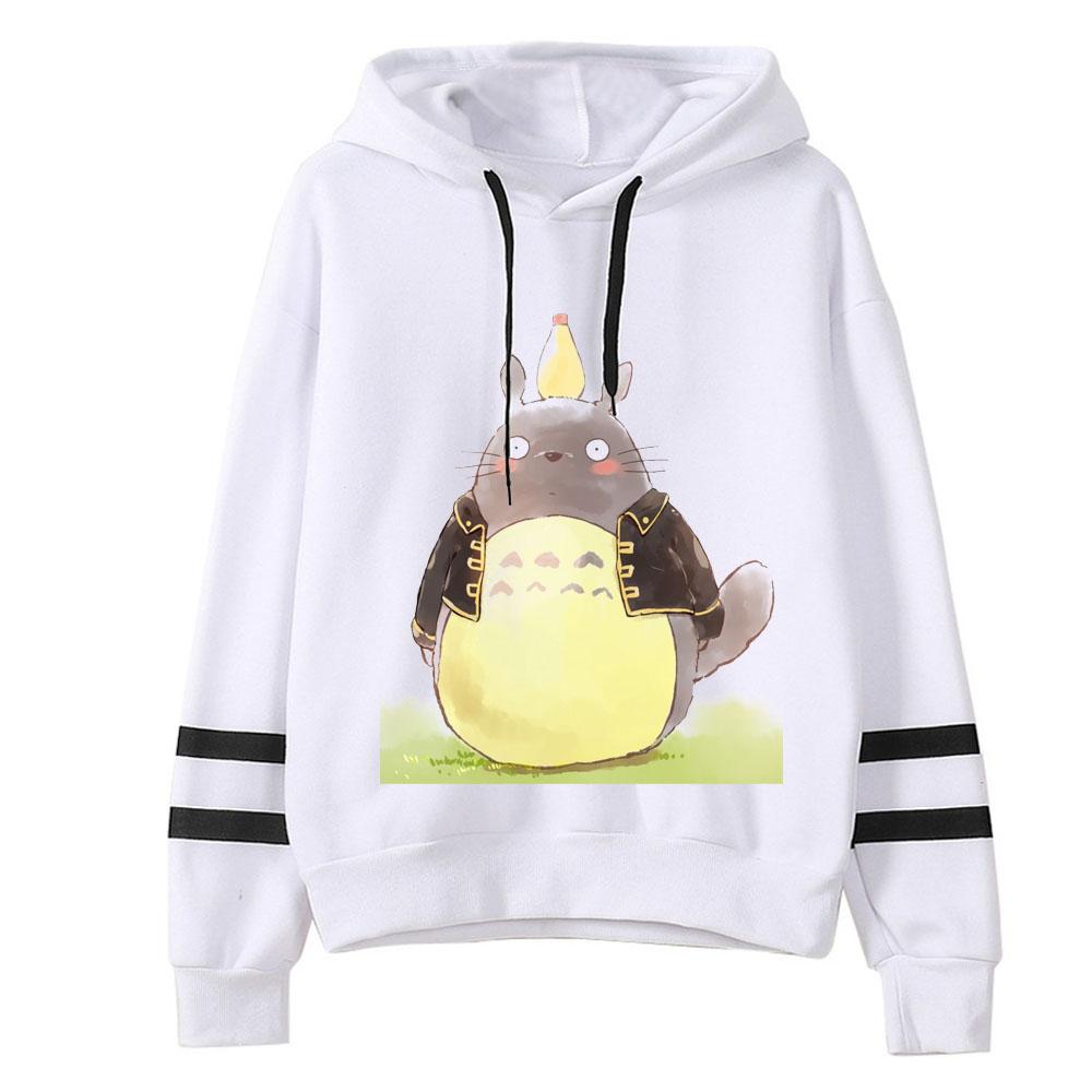 HTB1V.q7aLvsK1Rjy0Fiq6zwtXXa5 - 2019 Spring Autumn kawaii Women Cute Totoro Print Hoodies Women harajuku Long Sleeve Hooded Cartoon Printting Sweatshirts Tops