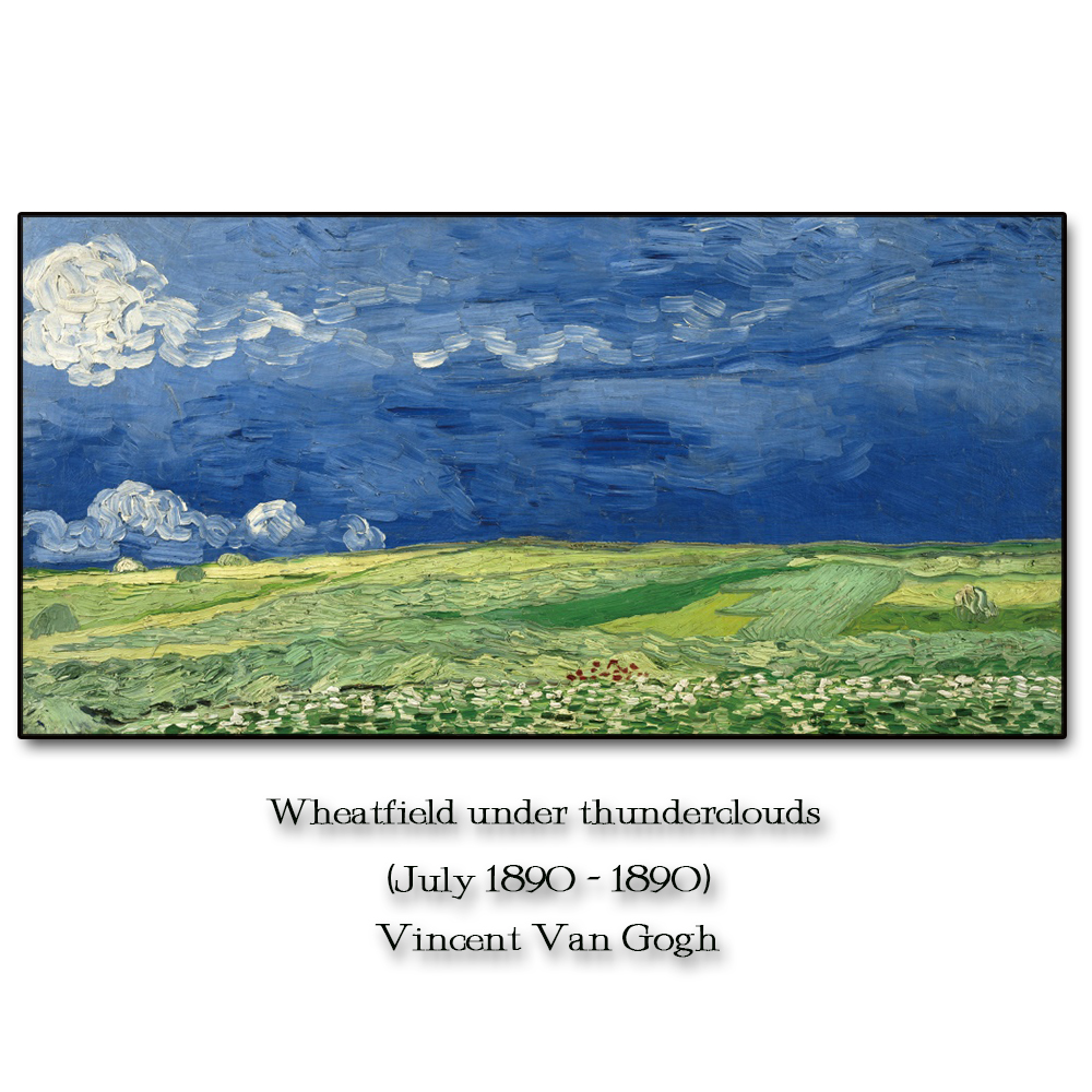 Wheatfield by Vincent Van Gogh Wall Pictures Poster Print Canvas Painting Calligraphy Decor for Living Room Bedroom Home Decor in Painting Calligraphy from Home Garden