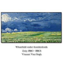 Wheatfield by Vincent Van Gogh Wall Pictures Poster Print Canvas Painting Calligraphy Decor for Living Room Bedroom Home