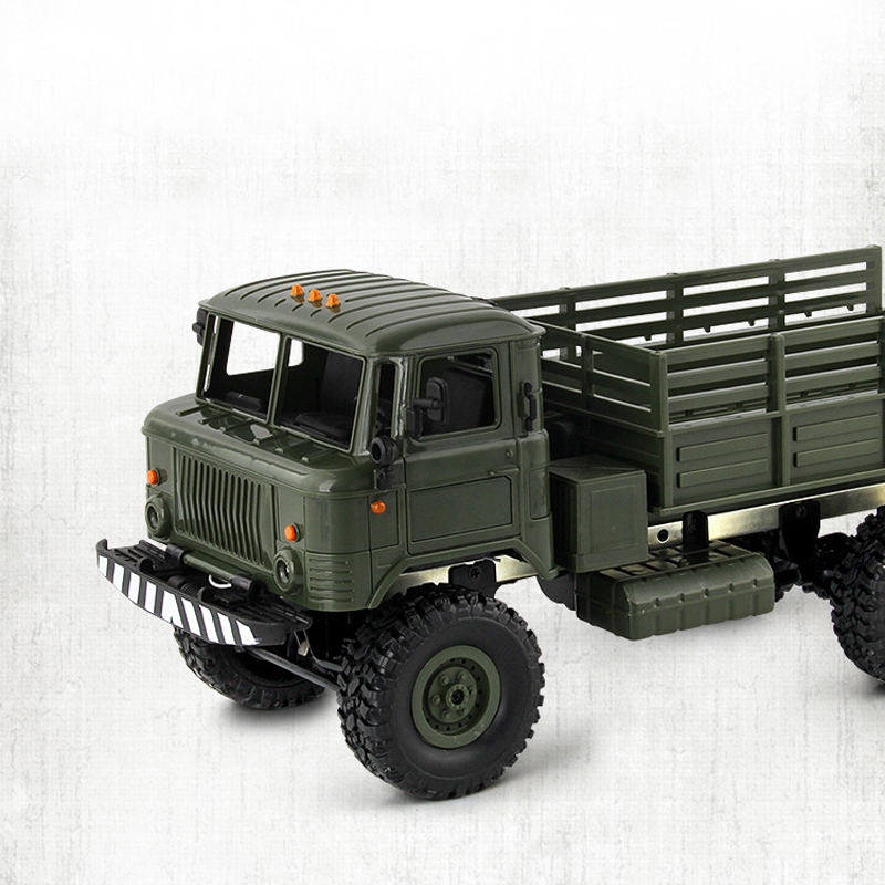 Gift Vehicle Drive 1:16 Control Truck Car Climbing Off-Road Car Four-Wheel RC Birth Toy Military Remote Kids Remote Toy Control 3
