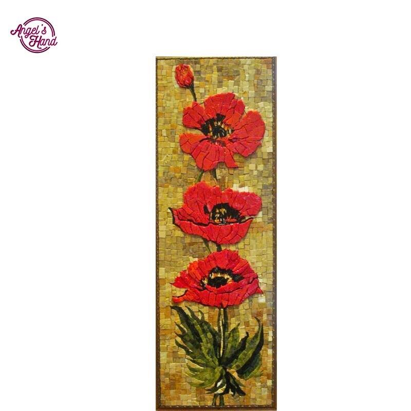 ANGEL'S RĘCZNIE czerwone kwiaty 5d diament malarstwo Cross Stitch Diament Mozaika Zdjęcia Diament Hafty Obrazy Diamentowe