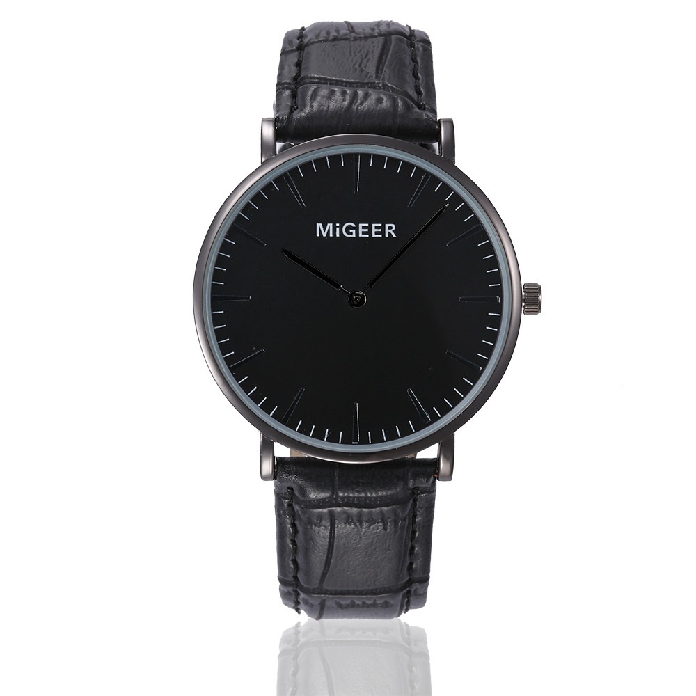saatleri Fashion 2019 Retro Design Leather Band Analog Alloy Quartz Wrist Watch Retro Design Leather Band Watches Men New A4