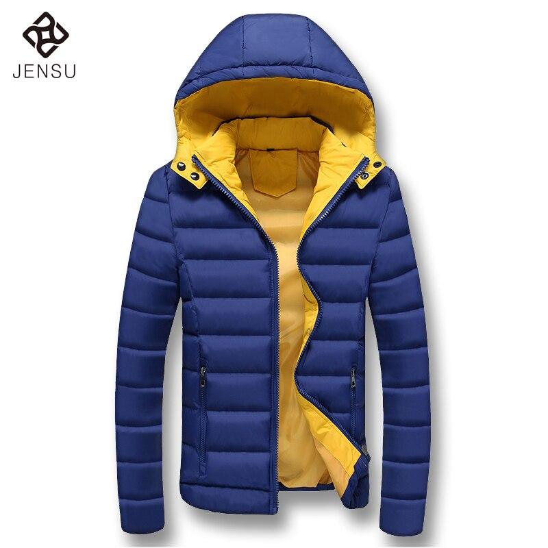 Thick Men Winter Hooded Downs Jackets Fashion Men Warm Coats Slim Fit Down Men Parkas Hot Sale Men Plus Size M-5XL