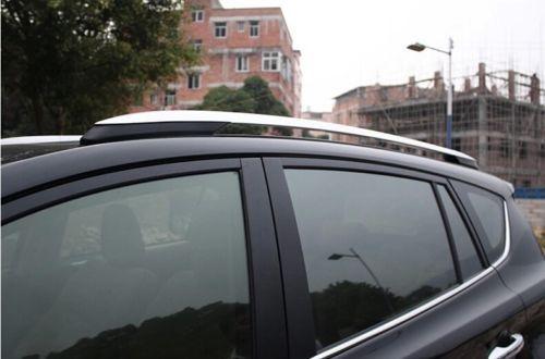 Фото высокое качество серебряный багаж багажник на крышу бар крест цена
