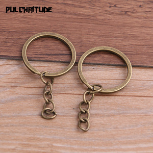 Image 4 -  10pcs Key Ring Key Chain 4 Colors Plated 25mm Long Round Split Keychain Keyrings Wholesale