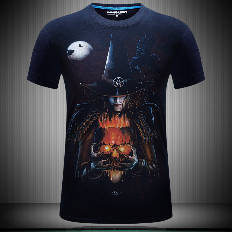 2017 Death Scythe Men Short Sleeve Cotton Summer Male Tshirt Casual T shirt Hipster Tee Hip Hop Top Plus Size Hot Sale YN10059 in T Shirts from Men 39 s Clothing