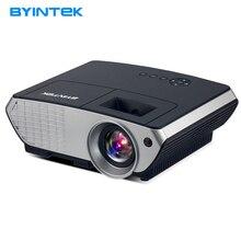 BYINTEK márka MOON BL126 HDMI USB LCD multimédia házimozi HD 1080P videó hordozható LED kivetítő (opcionális Android WIFI)