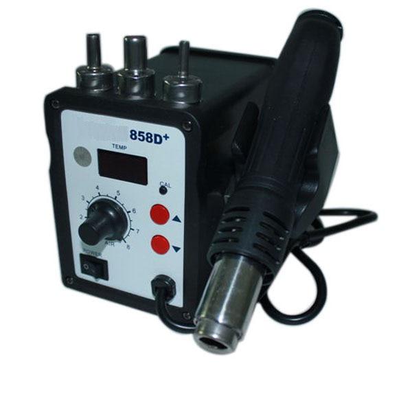 1PCS 858D+ 220V smd rework station Tool Hot Air Gun soldering station 2 pcs lot hot air gun 858 858d 858d 8586 ceramic heating element heater core