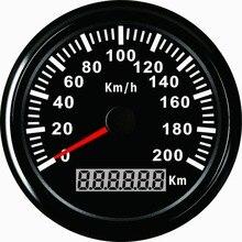 1 шт. абсолютно 85 мм gps Спидометр Одометр 0-200 км/ч для автомобилей гоночных мотоциклов