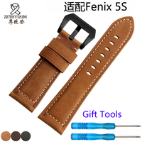 For Garmin Fenix 5S 5 5X Genuine Leather Watchbands 20mm 22mm 26mm Frosted Strap Release Bracelet