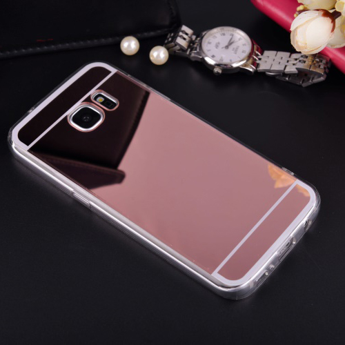 Mirror Case Soft TPU Back Cover For Samsung Galaxy J1 J5 J7 A3 A5 A7 <font><b>2016</b></font> <font><b>J3</b></font> A8 S3 S4 S5 S6 S7 Edge Plus Grand Prime Phone Cases image