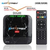 SATXTREM WT18 Amlogic S912 Octa Core Android 7,1 ТВ коробка 3 Gb DDR3 32 GB 2,4G/5 ГГц WI-FI Gigabit LAN Google Play Smart Декодер каналов кабельного телевидения