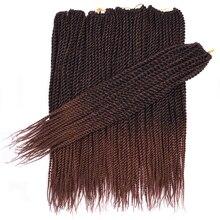 30 корней/упаковка Sallyhair Сенегальские вязанные крючком закрученные косички волос 18 дюймов коричневый цвет косичка волос Омбре синтетические сенегалы косички волос