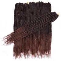 30 wurzeln/Pack Sallyhair Senegalese Häkeln Twist Zöpfe Haar 18 inch Braun Farbe Braid Haar Ombre Synthetische Senegal Flechten haar