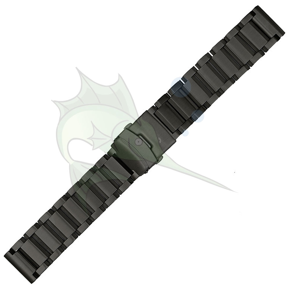 Image 4 - High End Black Silver Stainless Steel Watch Strap 23mm 25mm Flat Type Bracelet Stainless Steel Watchband-in Watchbands from Watches