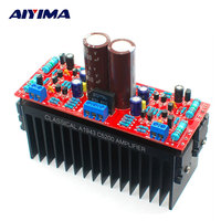 AIYIMA Tube Amplifiers Audio Board DIY Kits A1943 C5200 Dual AC12 28V High Power Amplifier Board