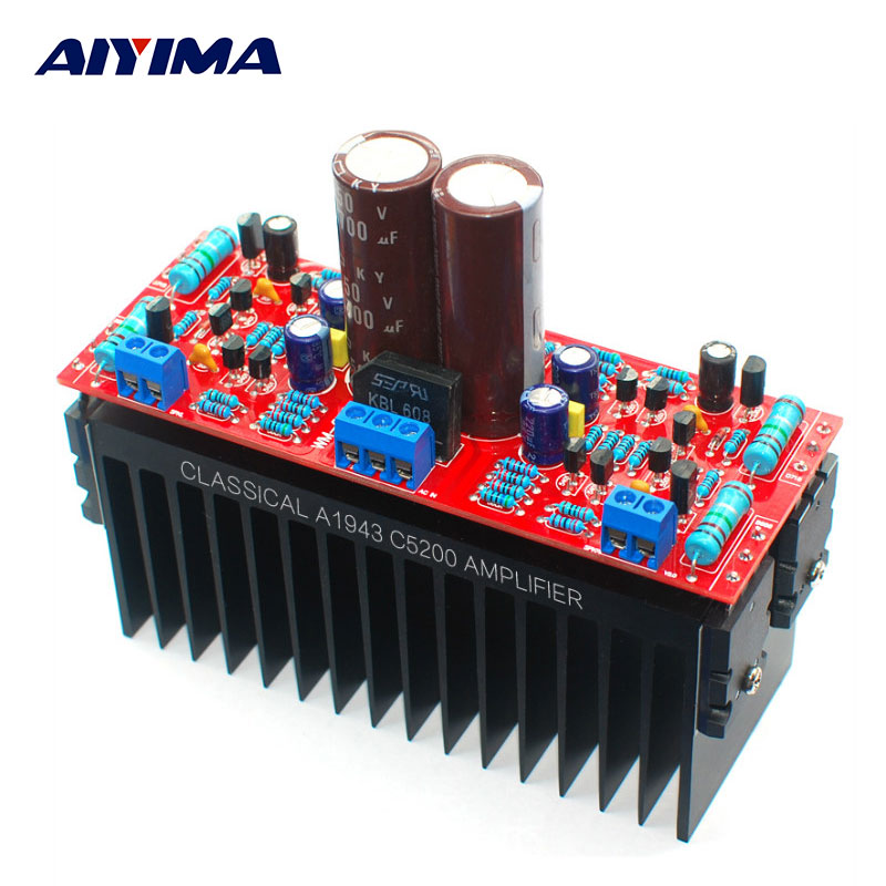 AIYIMA Tube Amplifiers Audio Board DIY Kits A1943/C5200 Dual AC12-28V High Power Amplifier Board Stereo HIFI Tube Fever Level aiyima 12v tda7297 audio amplifier board amplificador class ab stereo dual channel amplifier board 15w 15w