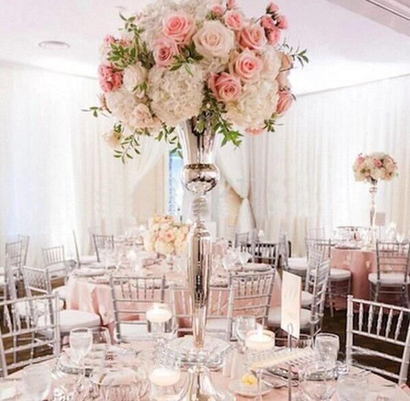 78cm Tall Gold Metal Flower Vase Table Centerpieces Road Leads Wedding Decoration 10 Pcs Lot Vases Aliexpress